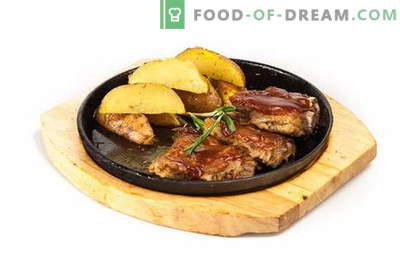 Sealiha ribid kartuliga ahjus - pehme, mahlane ja maitsev! Küpsetatud sealiha ribad kartuliga: retseptid