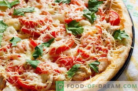 Kana pizza - parimad retseptid. Kuidas õigesti ja maitsev kokk pizza kana.