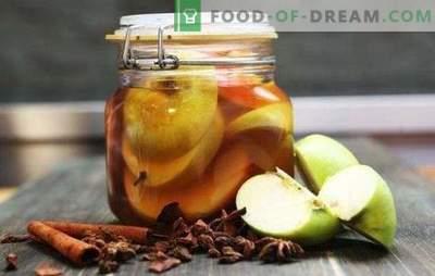Marinuoti obuoliai žiemai stiklainiuose be sterilizavimo - aromatinis užkandis. Marinuoti obuoliai žiemai: saldūs, rūgštūs, vabzdžiai