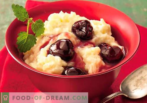 Rice puding - parimad retseptid. Kuidas korralikult ja maitsev küpseta riisipudel.