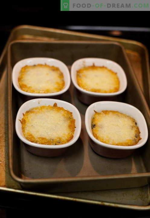 Seened julienne - parimad retseptid. Kuidas korralikult ja maitsev kokk juliens seentega.