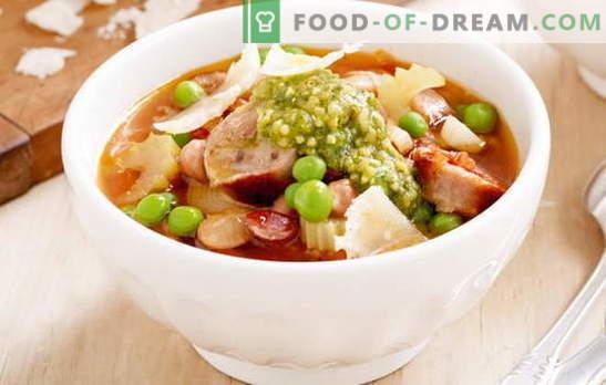 Vorstsoog: nuudlid, Solyanka, muna, tomat. Parimad retseptid suppide valmistamiseks iga päev