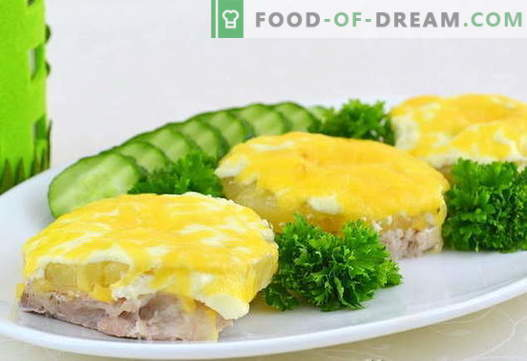 Ananassi liha - parimad retseptid. Kuidas õigesti ja maitsvalt süüa liha ananassidega.