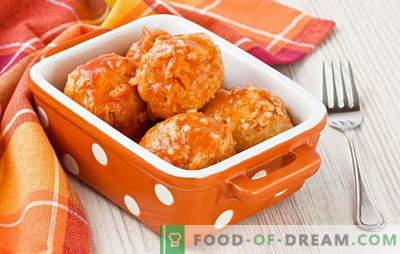 Lihapallid kastmega - mahlane liha lõhnavas kastmes. Kuidas süüa lihapallid kastmega: ahjus, pannil