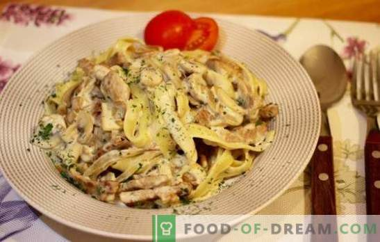 Sealiha pasta - Itaalia tükk teie köögis. Parimad retseptid nõuetekohaselt keedetud sealiha pasta