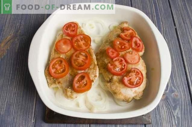 Delizioso filetto di pollo con formaggio al forno
