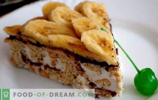 Piparkoogi kook banaani ja hapukoorega - ja ahju ei ole vaja lisada! Piparkookide retseptid banaanide ja hapukooreta küpsetamata