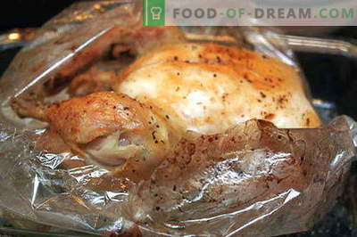 Kana sinu varrukas - parimad retseptid. Kuidas õigesti ja maitsev kokk kana varrukas küpsetamiseks.