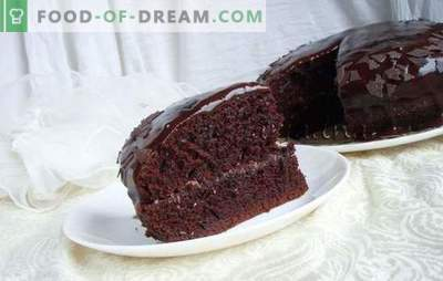 Wet sponge cake - quick, juicy pastries! Variants of wet biscuit with condensed milk, mint, honey and chocolate