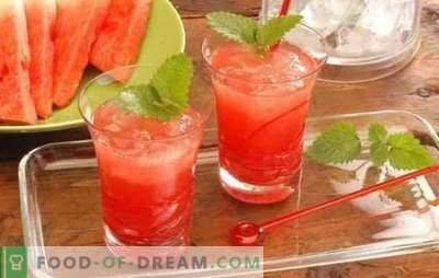 Коктели од лубеница - освежителни пијалаци за забави и релаксација. Рецепти за безалкохолни и алкохолни коктели од лубеница