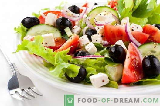 Kreeka salat - parimad retseptid. Kuidas õigesti ja maitsev valmistada kreeka salateid