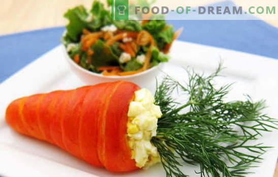 Salad from carrots and eggs - a combination of taste and benefit. The best recipes for carrots and eggs: simple, original and puff