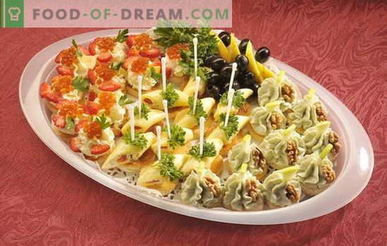 Sünnipäevakapp - laud on särav! Erinevad tüübid võileibu sünnipäevadeks ja muudeks pühadeks