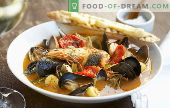 Bouillabaisse supp on meie köögis eliit. Erinevad Bouillabaisse'i retseptid kala ja mereannitega