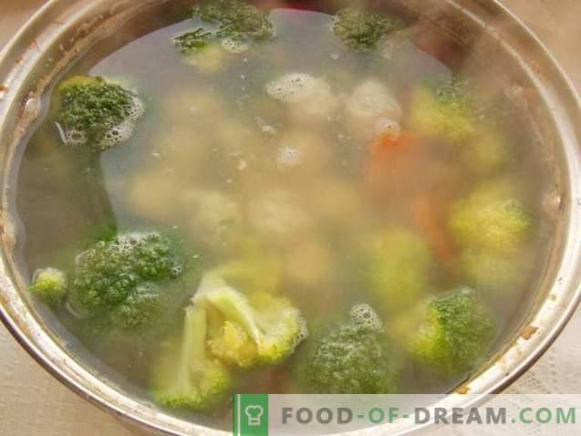 Broccoli supp lihapallidega