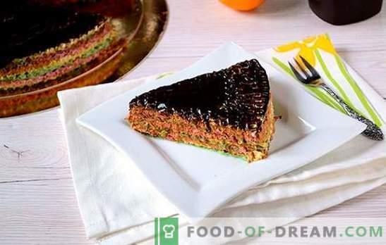 Waffle cake: samm-sammult fotoretsept. Valmistatud kookidest valmistatud vahukoog kondenspiimaga - lihtne ja väga maitsev!