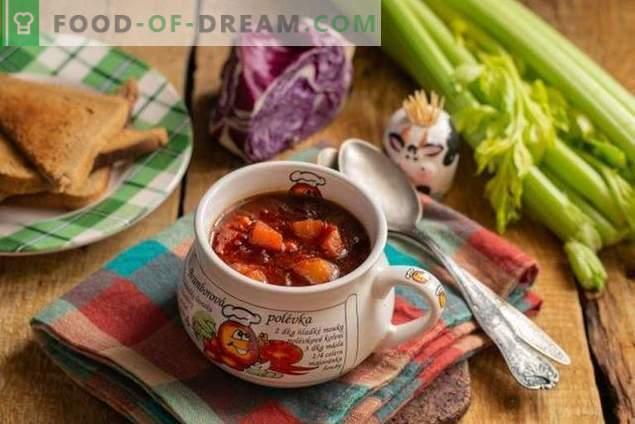 Tervislik taimetoitlane punane kapsasupp