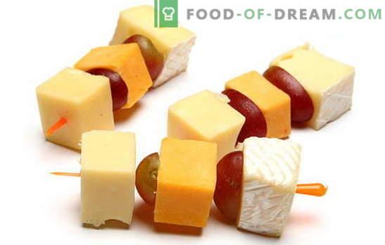 Juustuga canapes - laitmatu suupiste mis tahes tähistamiseks. Parimad retseptid juustuga kanepidele: lihtne ja ebatavaline