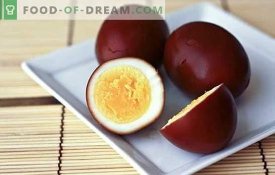 Suitsutatud munad - originaalne suupiste lihtsast tootest. Suitsutatud munad kodus ja retseptid nendega