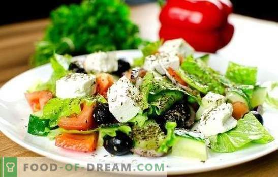 Kreeka salat: klassikalised samm-sammult retseptid. Maitsvad, tervislikud ja värsked Kreeka salatid vastavalt klassikalistele retseptidele