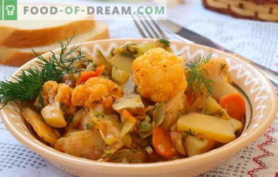 Kõige populaarsem hernes on taimne, kapsas ja kartul. Retseptid lahtiseks paastumiseks - köögiviljahaud kapsaga ja kartuliga