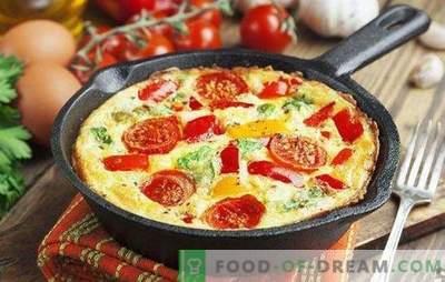 Omlett köögiviljadega - särav ja tervislik hommikusöök. Kuidas valmistada omlett köögiviljadega pannil, aeglases pliidis, ahjus ja mikrolaineahjus