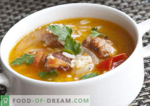 Supid riisiga - parimad retseptid. Kuidas korralikult ja maitsev riisi supp.