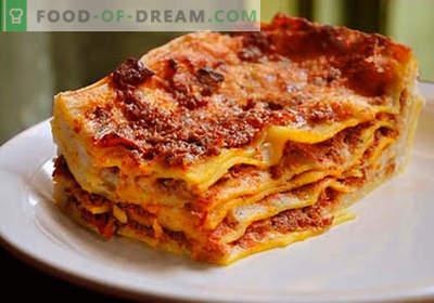 Lasagne in de slowcooker - de juiste recepten. Hoe om snel en smakelijk lasagne in een langzame kooktoestel te koken.