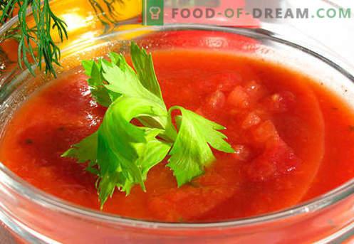 Gazpacho - tõestatud retseptid. Kuidas teha gazpachot õigesti ja maitsevaks.