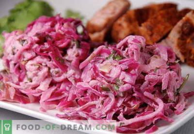 Red Cabbage Salad - parimad retseptid. Kuidas õigesti ja maitsvalt valmistada punase kapsa salatit.