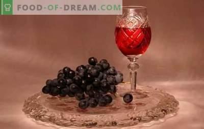 Grape tinktuur kodus ei ole vein! Retseptid aromaatse ja erksate viinamarjade tinktuuri jaoks kodus