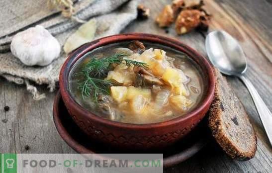 Paastunud supp - tühja kõhuga ja toitumine on hea! Parim traditsiooniline ja originaalne retseptid liha- ja loomsete rasvata lihatoote puhul