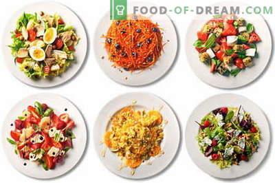 Брзи, лесни и едноставни салати се најдобри рецепти. Како да се направи светлина салата во прашање на минути.