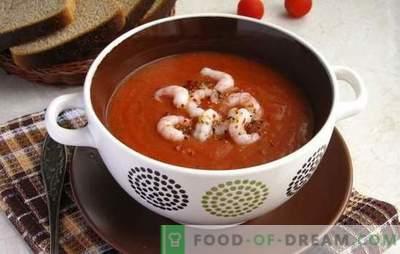 Tomati supp krevettidega - aromaatne delikatess. Parimad retseptid tomati supp krevettide ja muude mereandidega