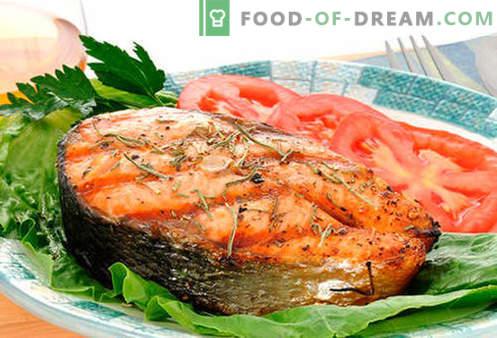 Lõhe praad - parimad retseptid. Kuidas õigesti ja maitsev kokk lõhe praad.