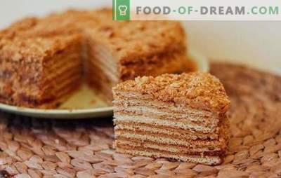 Torta al miele a bagnomaria - pasticcini aromatici. Ricette torta al miele a bagnomaria con diverse creme, noci