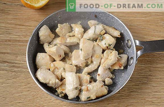 Kanafilee tüümiaga: üllatunud tavapärase toote uus maitse! Kanafilee autori retsept koos tüümia, küüslaugu ja sidruniga pannil
