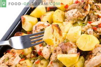 Kartulid lihaga - parimad retseptid. Kuidas korrektselt ja maitsvalt küpsetada kartuleid lihaga.