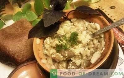 Perli pottides - maitsev, mitte sõna! Köögiviljades, seentes ja piimas sisalduvad liha sisaldavad odra retseptid
