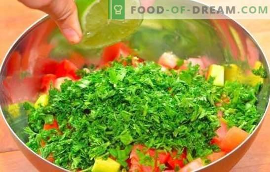 Salat sidrunimahlaga - maitsev vitamiinivariant! Terved salatid, sidrunimahlaga maitsestatud retseptid