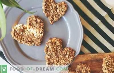 Kaerahelbed küpsetatud kaerast: tervislik magustoit. Kaerahelbed küpsetatud kaerast ingveri, banaani, mee, kuivatatud puuviljadega