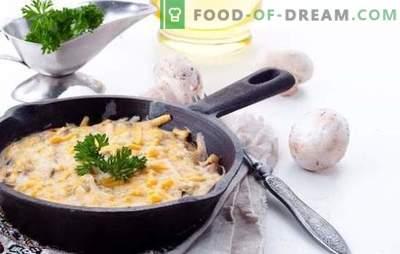 Julienne seente ja kartulitega on maitsev roog, mis põhineb lihtsatel retseptidel. Maitsva julienne valmistamine seente ja kartulitega