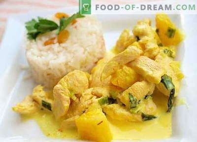 Curry Chicken - de beste recepten. Hoe goed en smakelijk kip met kerrie bereiden.