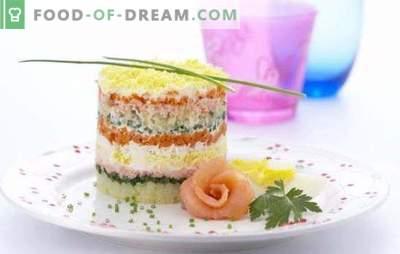 Kala salat riisiga - nii tööpäeviti kui ka pühadel! Kala salat konserveeritud, värske, suitsutatud, soolatud kala riisiga