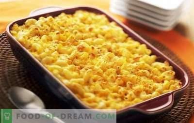 Pasta saia ahjus juustuga - rahuldav! Originaal seene, liha, köögiviljapagaritooted juustuga ahjus