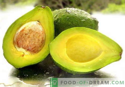Avokaadod - kasulikud omadused, kasutamine toiduvalmistamisel. Retseptid koos avokaadoga.