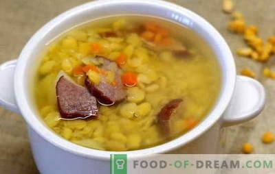 Zirņu zupa ar liellopu gaļu - vienkārša un bagāta. Labākās zirņu zupas receptes ar liellopu gaļu: vienkāršas un sarežģītas