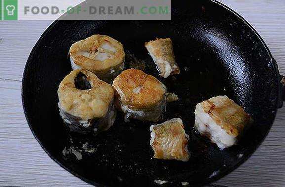 Hekk köögiviljade all - maitsev ja kuum ja külm! Autor on samm-sammult fotoga retsept: kuidas valmistada merluusi taimsete karusnahkade all