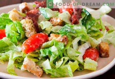 Salatid iga päev tõestatud retseptide jaoks. Kuidas valmistada salatid iga päev.