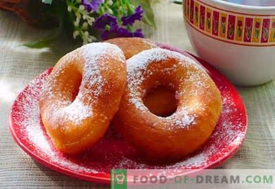 Donuts on parimad retseptid. Kuidas õigesti ja maitsev valmistada sõõrikud jogurtile ja juustu sõõradele.